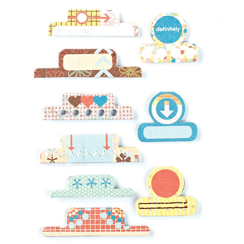BasicGrey - Hopscotch Collection - Office Tabs - Self Adhesive Paper Labels