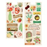 BasicGrey - Herbs and Honey Collection - Self Adhesive Chipboard - Shapes