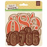 BasicGrey - Herbs and Honey Collection - Jumbo Kraft Numbers