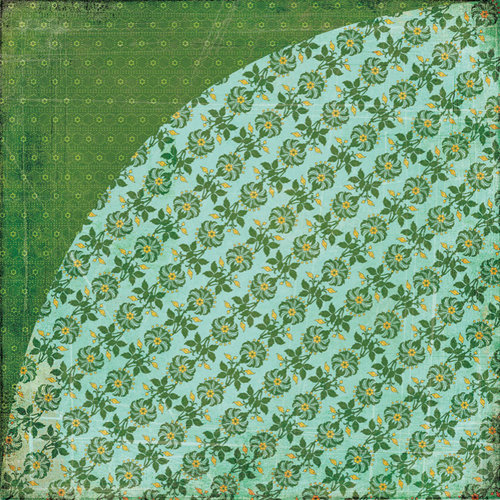 BasicGrey - Indie Bloom Collection - 12 x 12 Double Sided Paper - Guacamole