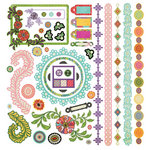 BasicGrey - Indie Bloom Collection - 12 x 12 Element Stickers - Shapes