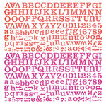 BasicGrey - Indie Bloom Collection - 12 x 12 Alphabet Stickers