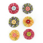 BasicGrey - Indie Bloom Collection - Fabric Stickers - Circle
