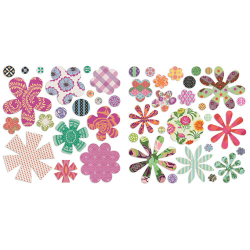 BasicGrey - Indie Bloom Collection - Die Cut Cardstock and Canvas Pieces - Flowers