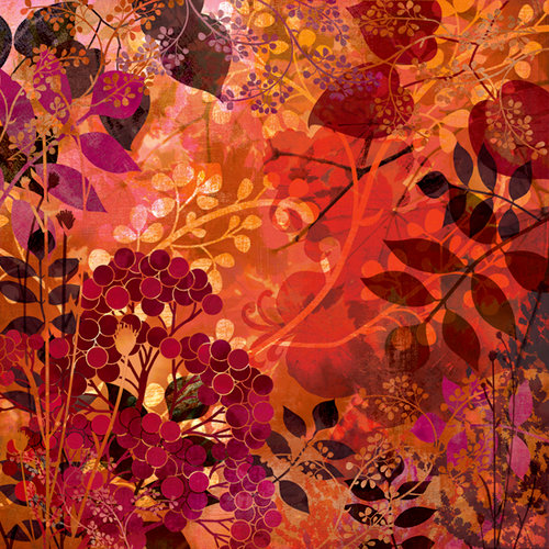BasicGrey - Indian Summer Collection - 12 x 12 Paper - Autumn Glaze