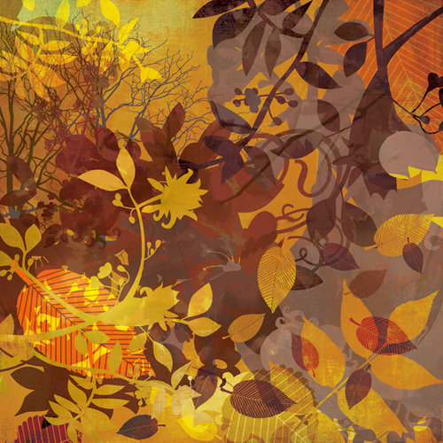 BasicGrey - Indian Summer Collection - 12 x 12 Paper - Splendor, CLEARANCE
