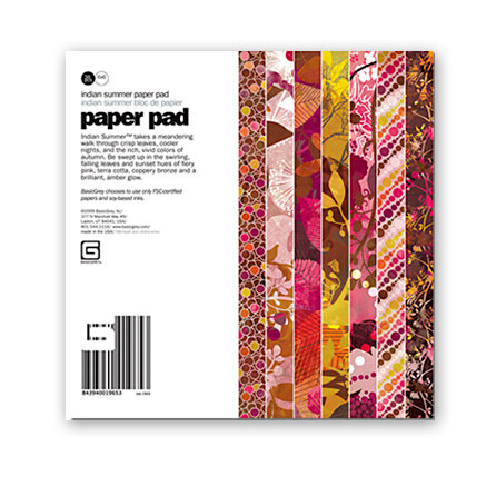 BasicGrey - Indian Summer Collection - 6 x 6 Paper Pad
