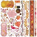 BasicGrey - Indian Summer Collection - 12 x 12 Element Stickers - Shapes