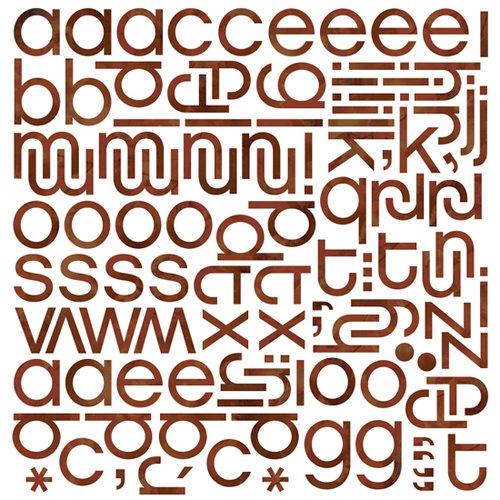 BasicGrey - Indian Summer Collection - Mini Monogram Stickers - Hip , BRAND NEW