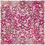 BasicGrey - Indian Summer Collection - Doilies - 12 x 12 Die Cut Paper - Plum, BRAND NEW