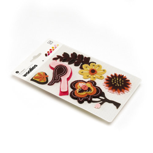 BasicGrey - Indian Summer Collection - Woolies - 3 Dimensional Felt Stickers, CLEARANCE