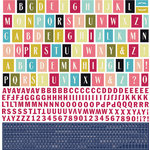 BasicGrey - J'Adore Collection - 12 x 12 Cardstock Stickers - Alphabet