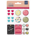 BasicGrey - J'Adore Collection - Mixed Brads