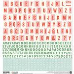 BasicGrey - Juniper Berry Collection - Christmas - 12 x 12 Cardstock Stickers - Alphabet