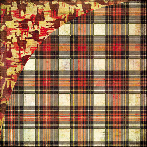 BasicGrey - Jovial Collection - 12 x 12 Double Sided Paper - Tartan Plaid