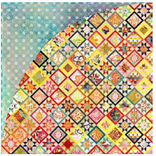BasicGrey - June Bug Collection - 12 x 12 Double Sided Paper - Crazy Quilt, CLEARANCE