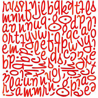 BasicGrey - June Bug Collection - Mini Monogram Stickers - Wilma, CLEARANCE