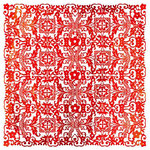 BasicGrey - June Bug Collection - Doilies - 12 x 12 Die Cut Paper - Tablecloth - Red