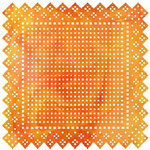 BasicGrey - June Bug Collection - Doilies - 12 x 12 Die Cut Paper - Swiss Dot - Orange