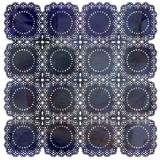 BasicGrey - June Bug Collection - Doilies - 12 x 12 Die Cut Paper - Navy, BRAND NEW