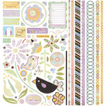 BasicGrey - Kioshi Collection - 12 x 12 Element Stickers - Shapes, CLEARANCE