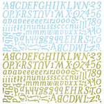 BasicGrey - Kioshi Collection - 12 x 12 Alphabet Stickers, CLEARANCE