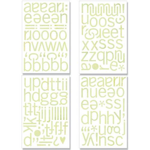 BasicGrey - Kioshi Collection - Adhesive Chipboard - Alphabet, CLEARANCE
