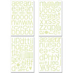 BasicGrey - Kioshi Collection - Adhesive Chipboard - Alphabet, CLEARANCE