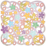 BasicGrey - Kioshi Collection - Doilies - 12 x 12 Die Cut Paper - Posies, CLEARANCE