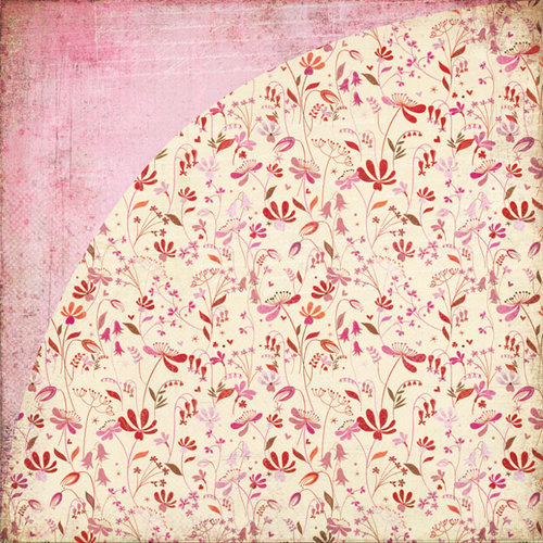 BasicGrey - Kissing Booth Collection - 12 x 12 Double Sided Paper - Butterfly Kisses