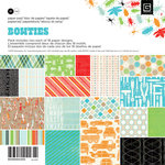 BasicGrey - Knee Highs and Bow Ties Collection - 6 x 6 Paper Pad - Bow Ties