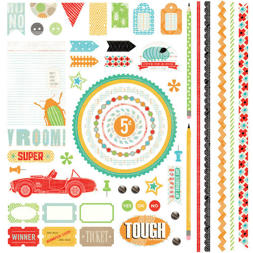 BasicGrey - Knee Highs and Bow Ties Collection - 12 x 12 Element Stickers - Bow Ties