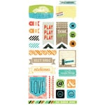 BasicGrey - Knee Highs and Bow Ties Collection - Cardstock Stickers - Titles - Bow Ties