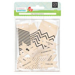 BasicGrey - Knee Highs and Bow Ties Collection - Wooden Flags