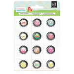 BasicGrey - Knee Highs and Bow Ties Collection - Bottle Cap Stickers - Knee Highs