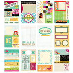 BasicGrey - Knee Highs and Bow Ties Collection - Journaling Cards - Snippets