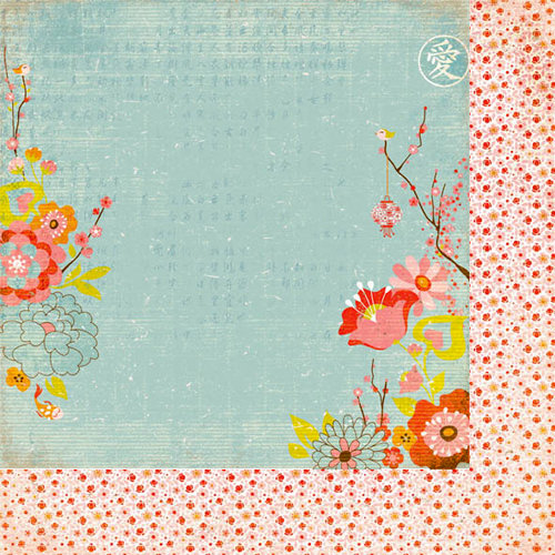 BasicGrey - Konnichiwa Collection - 12 x 12 Double Sided Paper - Koi Pond