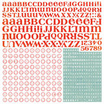 BasicGrey - Konnichiwa Collection - 12 x 12 Alphabet Stickers