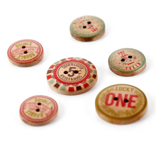 BasicGrey - Konnichiwa Collection - Wooden Buttons