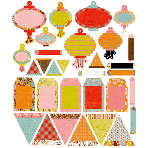BasicGrey - Konnichiwa Collection - Die Cut Cardstock Pieces