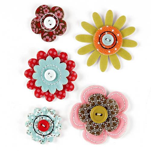 BasicGrey - Konnichiwa Collection - Fabric Flowers