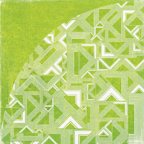 BasicGrey - Lauderdale Collection - 12 x 12 Double Sided Paper - Grass Stain