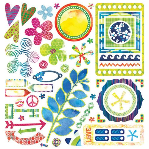 BasicGrey - Lauderdale Collection - 12 x 12 Element Stickers - Shapes