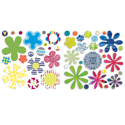 BasicGrey - Lauderdale Collection - Petals - Die Cut Cardstock and Canvas Pieces