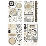 BasicGrey - Little Black Dress Collection - Adhesive Chipboard