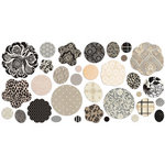 BasicGrey - Little Black Dress Collection - Die Cut Canvas and Cardstock Pieces - Flowers