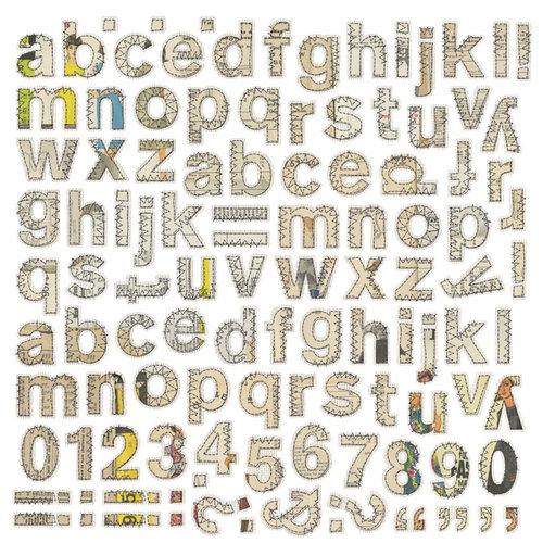 BasicGrey - Lucille Collection - 12 x 12 Alphabet Stickers