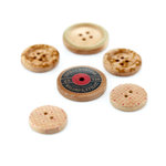 BasicGrey - Lucille Collection - Wooden Buttons