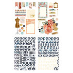 BasicGrey - Lucille Collection - Adhesive Chipboard - Shapes and Alphabets
