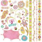 BasicGrey - Lemonade Collection - 12 x 12 Element Stickers - Shapes